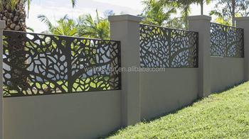 Usa cnc cut moderne metalen hek gebruikt voor villa tuin