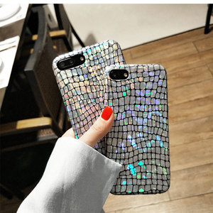 2017 hot colorful bling snake skin imd phone case for iphone 8