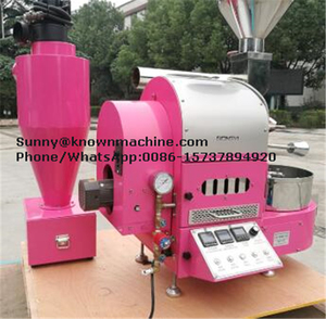 Automatic 1kg coffee roaster capacity 50kg coffee beans/hour gas roaster  machine 1kg coffee roasting machine