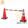 Factory Price Yellow Black PVC Retractable Traffic Cone Bar