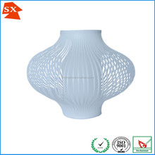 Wonderful design PVC pure white turquoise yellow black chandelier lamp shade