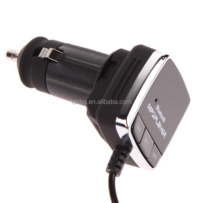 A2DP Bluetooth Car Kit 3.5MM Wireless Bluetooth 4.0 FM Transmitter + MP3 Player + USB Charger Handsfree Car Kit