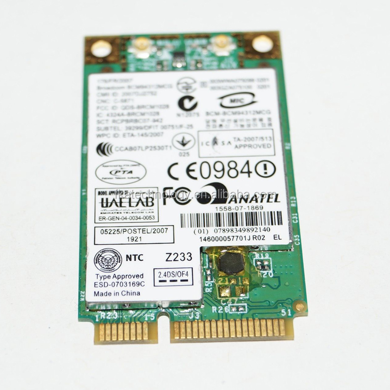 For Dell M348H WLAN Mini PCIexpress Card Broadcom DW 1395 WiFi 54Mbps 802.11b/g BCM94312MCG
