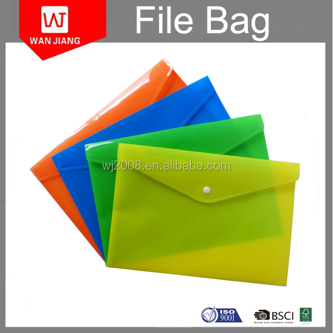 Custom Promotion Flat Business Document File Bag& Stationery Bag for Office
