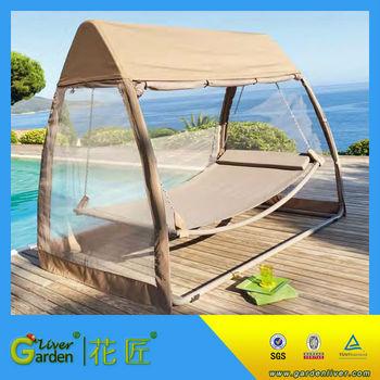 Hammock Swing Bed With Mosquito Net Sleeping Free Standing Hammock
