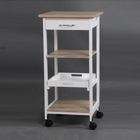 Best selling multi-functional wooden kitchen carts