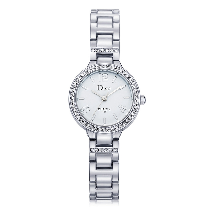 New Brand Casual Luxury Gold&Silver Watches Women Dress Watches Fashion Crystal Quartz Bracelet Wrist Watches