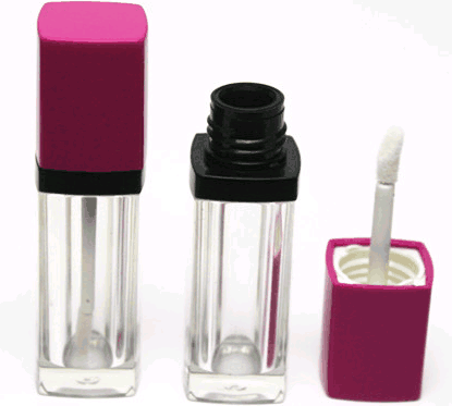 Lip gloss bottiglia di plastica cosmetica lip gloss tubo
