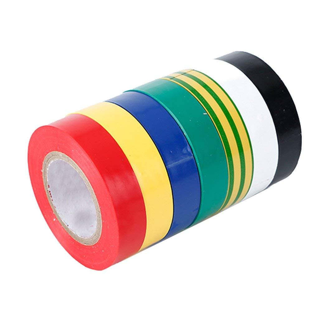 10 Pcs 18M x 16mm Black Adhesive Electric Insulation Tape Roll