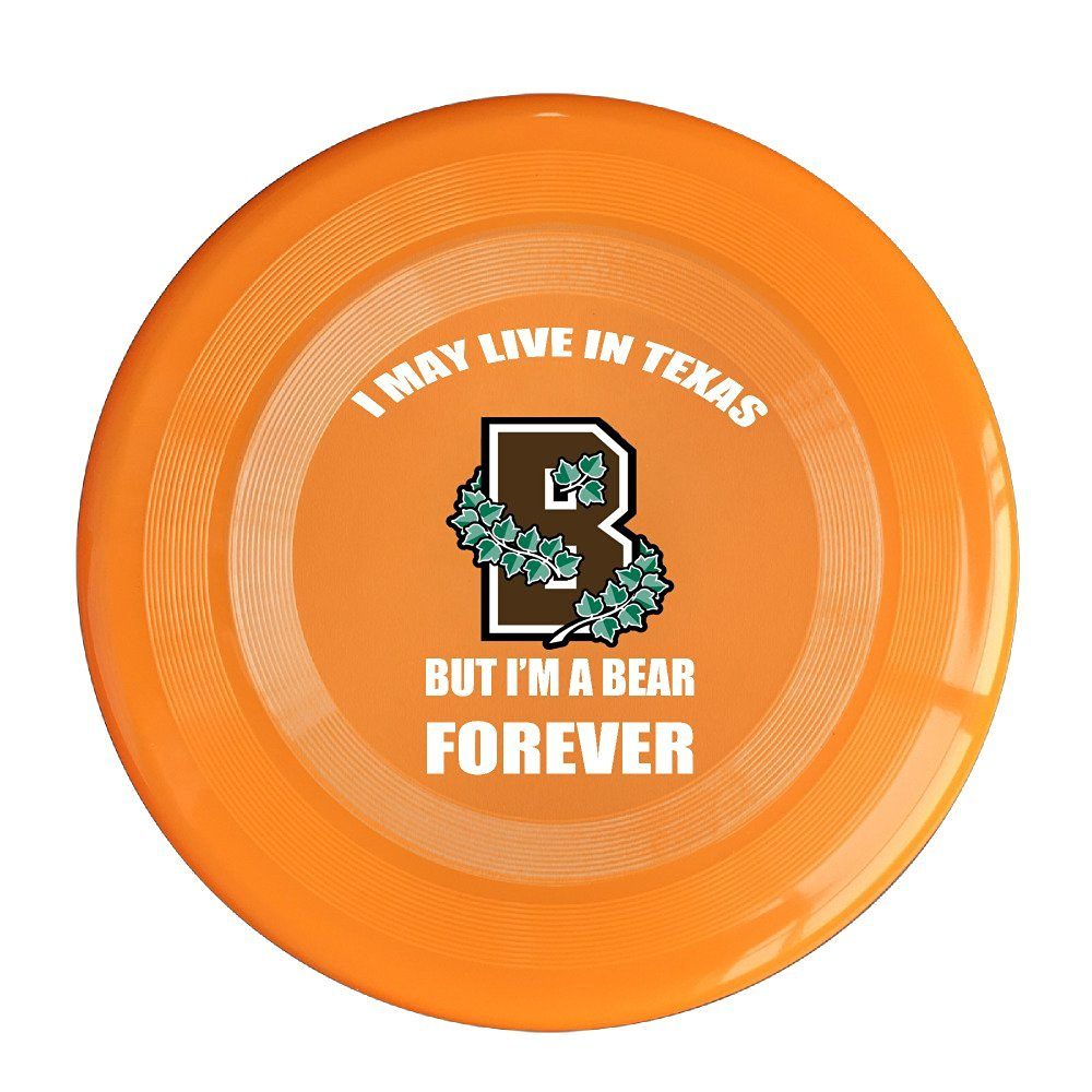 YFF I May Live In Texas But I'm A Bear Forever 150 Gram Ultimate Sport Disc Frisbee Yellow