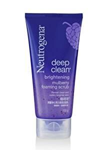 Neutrogena Deep Clean Brightening Mulberry Gentle Exfoliating Foaming Scrub 100g