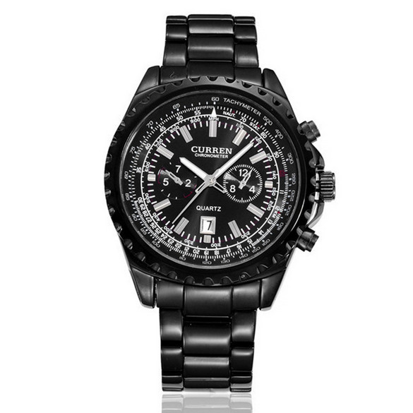 4394b5ae85c7 Get Quotations · CURREN 8053 Watches Men Luxury Brand Calendar Date Relogio  Masculino Black Silver Stainless Steel Top Hot