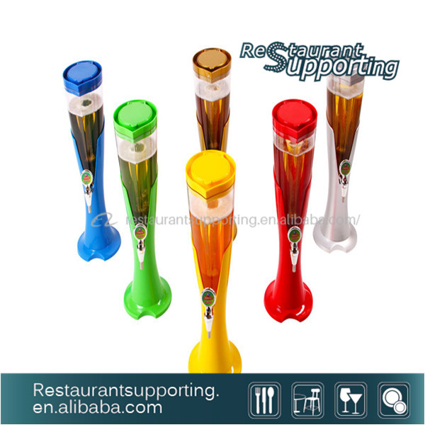 Hot Sale Colorful Plastic Beer Tower/Beer Tap