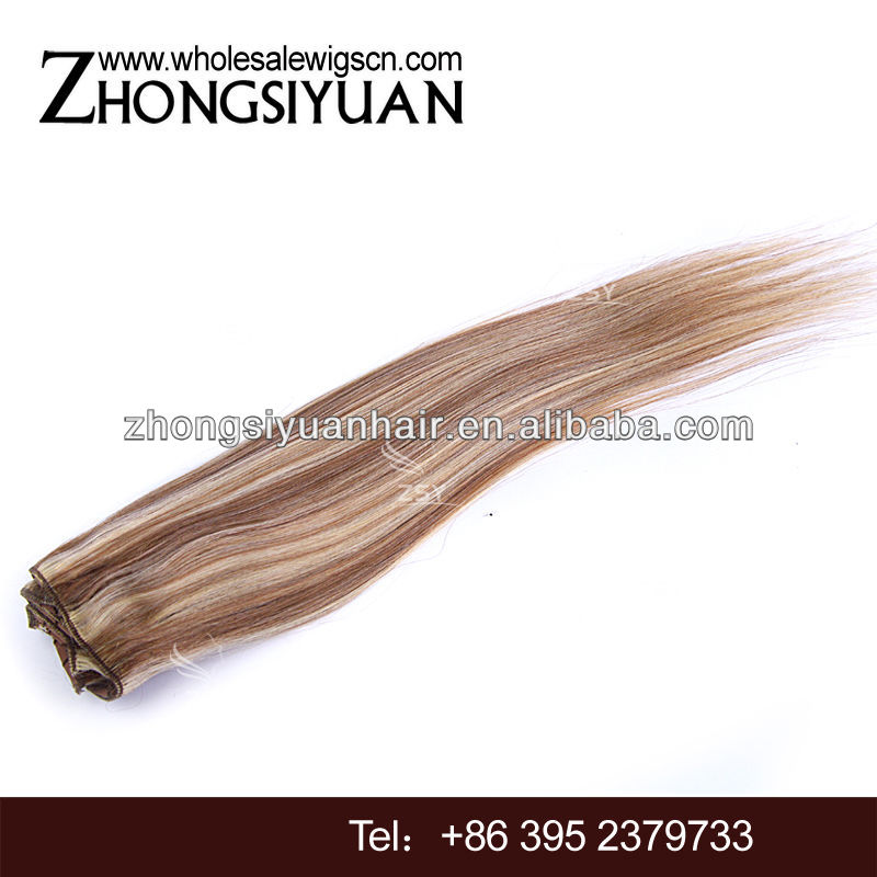 ZSY natural clips hair extensions double drawn clip in hair extension