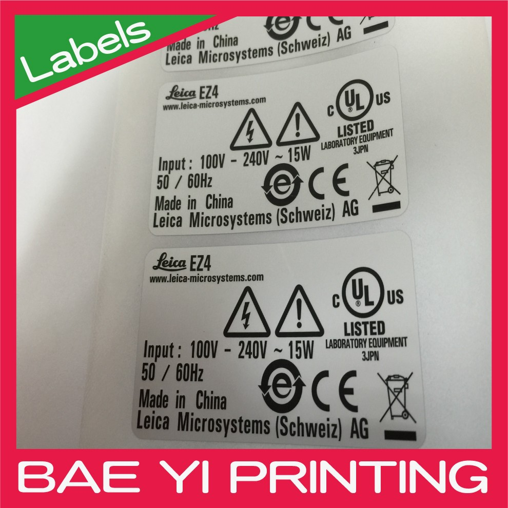 Safety issue UL electronics sticker for 3C industry