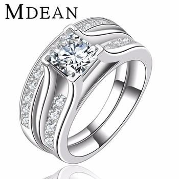 Mdean Wedding Ring Bridal Sets For Women Luxury Rings Vintage Bague