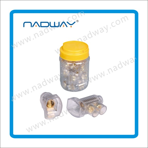 Gold supplier NADWAY product single and double 35A Screw Connectors 2 x 6mm Cable