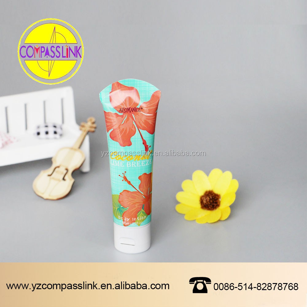 offset printing Cosmetics PET Clear plastic tube CG-2224