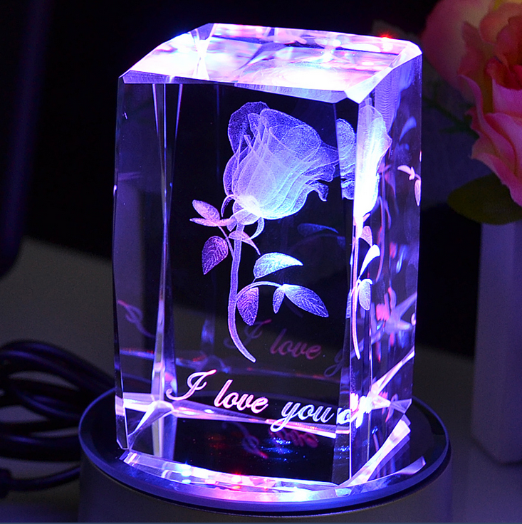Modern Design Crystal 3d Cube For Wedding Take Away Gift For ...