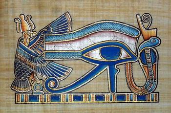 Jiddu Krishnamurti s'entretient avec André Voisin ( en français !) Un document précieux ! - Page 6 Egyptian-Papyrus-Paintings-God-Horus-Eye.jpg_350x350