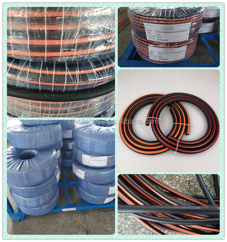 Cost-effective braided kink resistance air conveying oriental 3/4 inch Rubber & PVC Mixed Air Hose