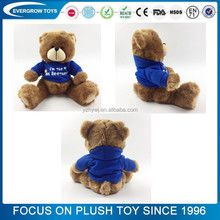 Commercio all'ingrosso logo personalizzato personalizzato Peluche Teddy Bear Toy