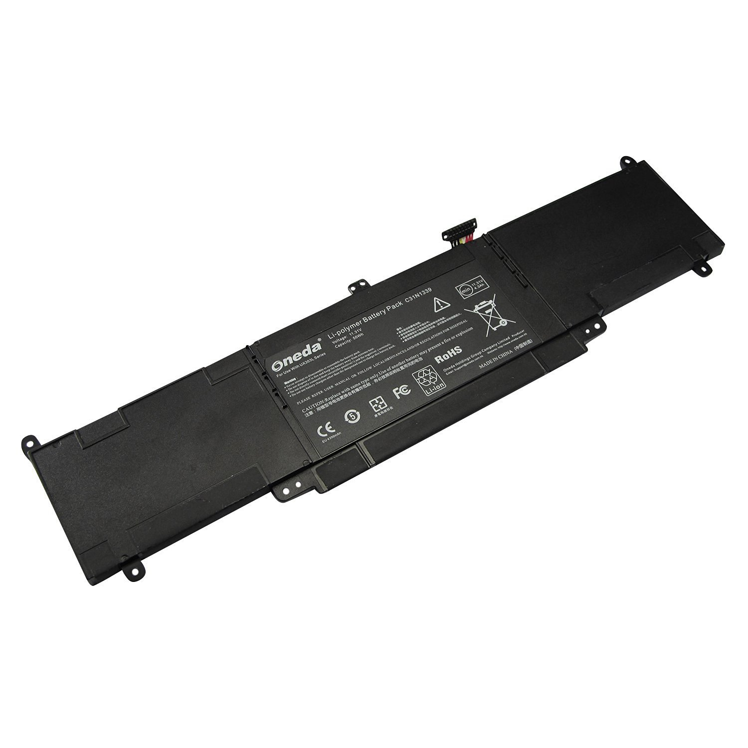 Oneda New High Performance Laptop Notebook Battery for Asus UX303 U303L Q302L UX303L UX303LN Series ; P/N: C31N1339 0B200-00930000 Replacement batteries Pack [11.31V / 50Wh]