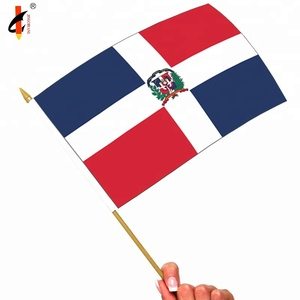 High Quality Green White Red Hand Flag