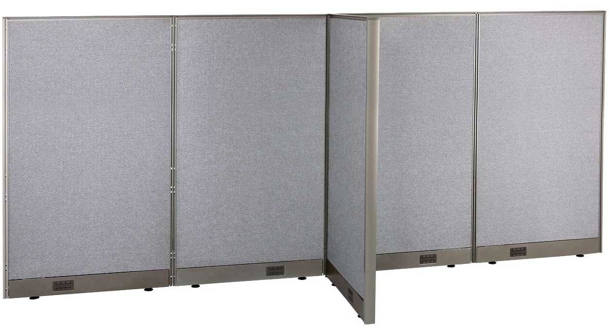 "GOF T-Shaped Freestanding Partition 30""D x 72""W x 60""H / Office, Room Divider (30d x 72w x 60h)"