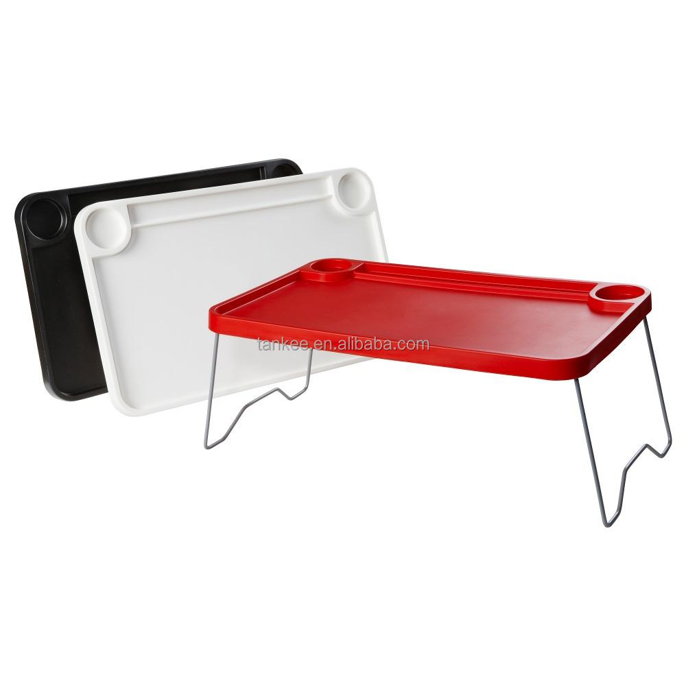 Mesa plegable ajustable bandeja tv cena desayuno bandeja de cama pl stico con las piernas mesas - Bandeja desayuno cama ...