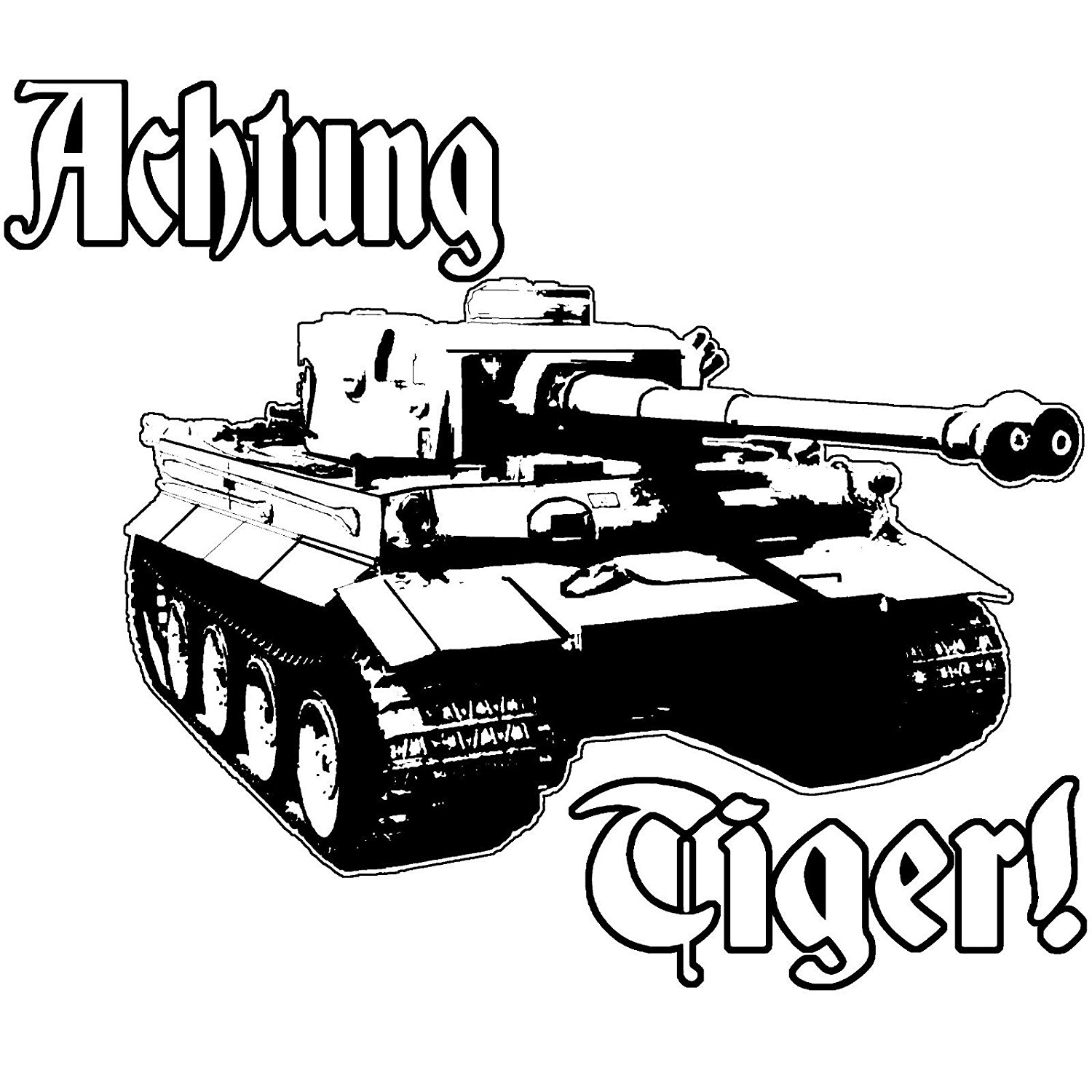 Achtung tiger tank panzer stalingrad world tanks german model rc vinyl decal by achtung t shirt