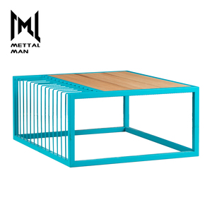 Modern small bedroom wood and metal end tables art antique innovation wooden teapoy
