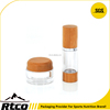 RTCO bamboo luxury cosmetics clear plastic jar