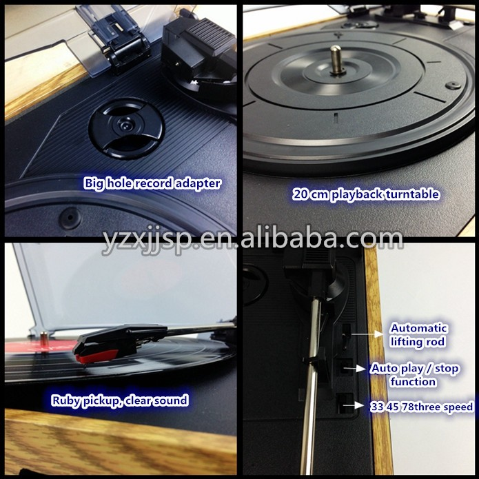 rain lane Exhibition Customized Turntable Player With Three Speed gramophone player