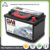 DIN75ah MF new type korea design sealed discharged buy a car battery