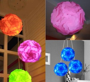 DIY Modern IQ lamp Jigsaw puzzle pendants colorful pendant lights LED adjustable party decoration chandelier ceiling lamp