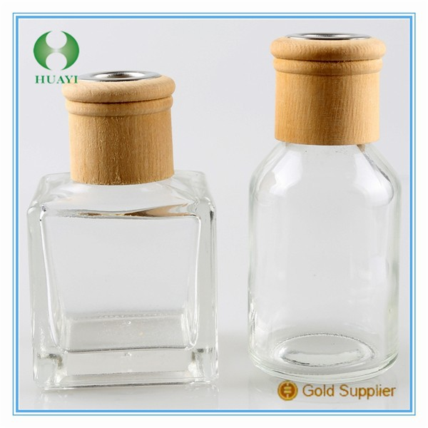 27/410 Perfume Diffuser bottle natual color Wooden <strong>Cap</strong>