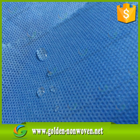 spunbond+melt bond+spunbond 60gsm medical blue waterproof 3 layer sms nonwoven fabric