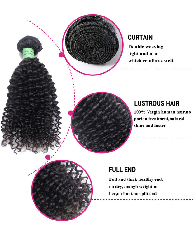 Wholesale 100% Durable Remy Different Types Malaysian Deep Kinky Virgin Hair Curly Weave