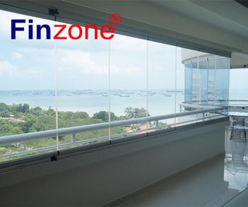 Außen Rahmenlose Faltbare Glasvorhang Balkon Fenster Hersteller ...