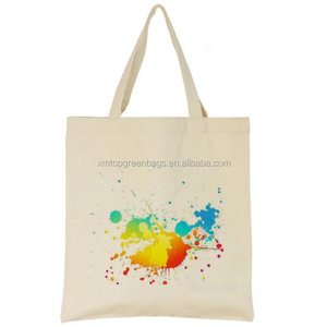 Customized Promotional Natural Full Color cotton canvas shopper Tote Bag