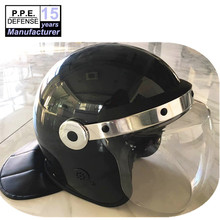 Military security ABS Anti riot police helmet with curve visor