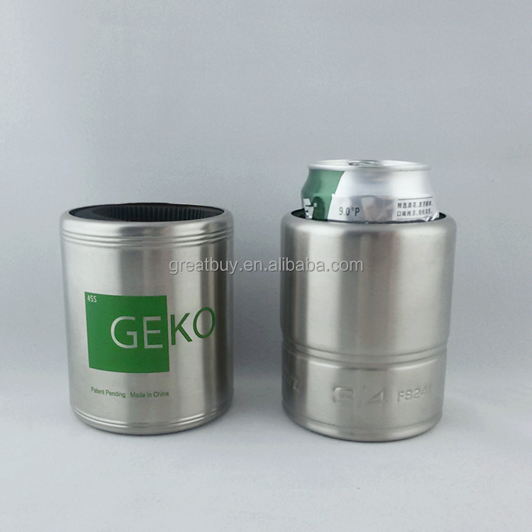 metal stainless steel beer can holder can cooler