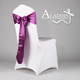 purple colour chair sashes for weddings-15cm*28cm pre tied chair sashes