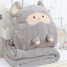 High quality stuffed throw blankets for kids travel blankets and pillows
