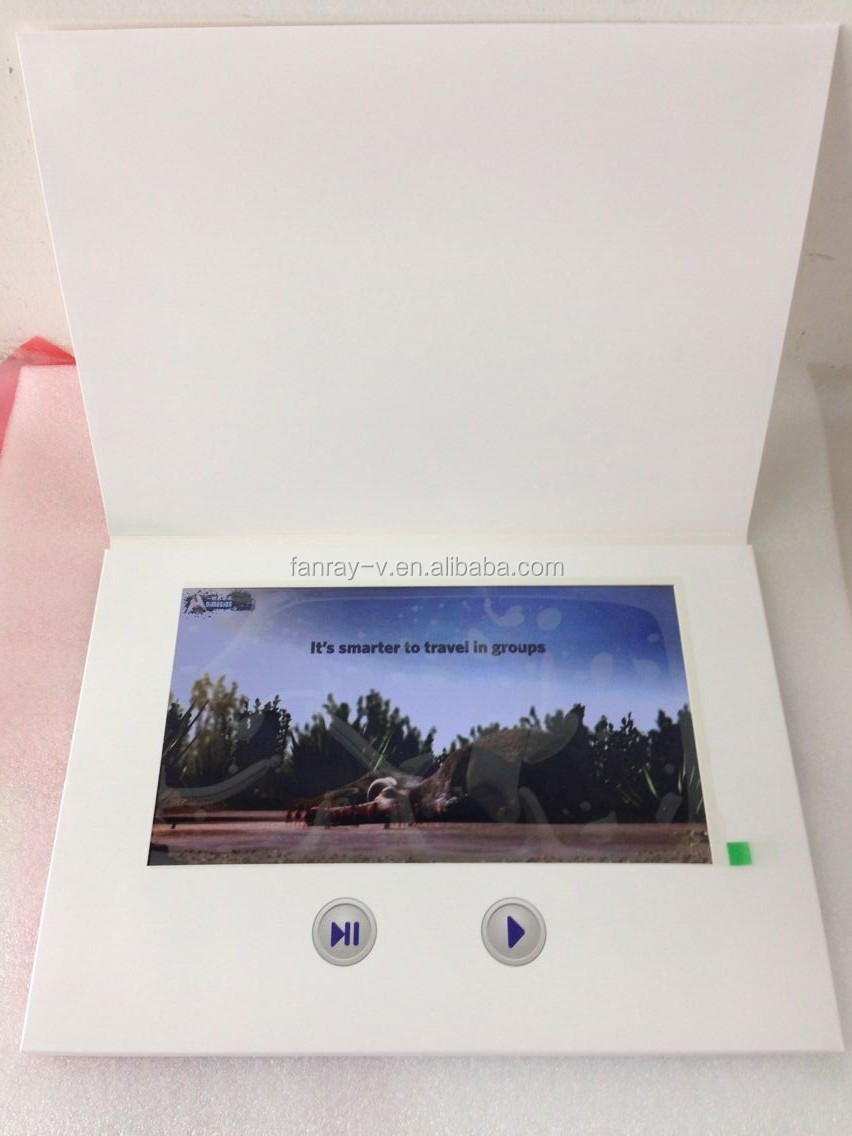 10 Lcd Video Greeting Cardsvideo Folder Brochure Card For