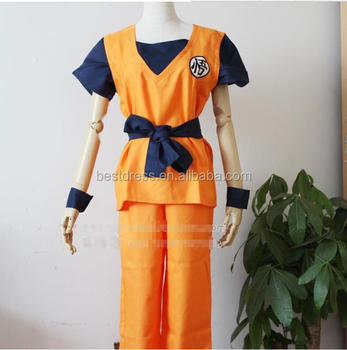 Festa A Fantasia Roupas Anime Dragon Ball Z Goku Cosplay Set Traje ... 7af98e79c3bd