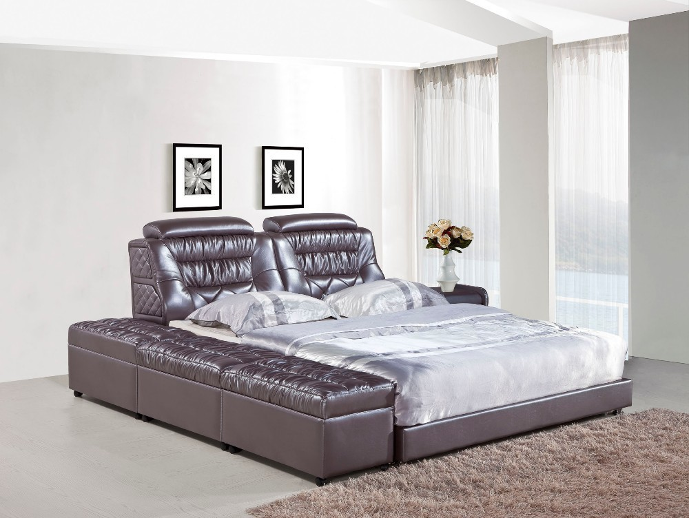 Bedroom furniture modern leather bed h821 lizz bed hot - Contemporary bedroom sets for sale ...