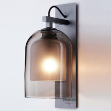 2018 nordic frosted glass smoke sconce wall lamp ETL20044