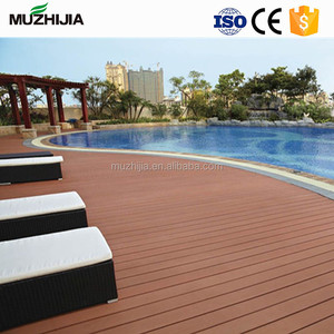 WPC waterproof engineered laminated wood flooring/wood plastic composite outdoor decking covering for park/swimming pool
